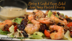 Shrimp & Candied Bacon Salad w/Lemon Honey Mustard Dressing