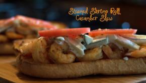 Steamed Shrimp Roll Cucumber Slaw