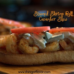 Steamed Shrimp Roll Cucumber Slaw