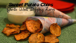 Utokia Langley makes Sweet Potato Chips with Garlic Aioli Dipping Sauce