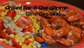 Grilled Bar-B-Que Shrimp with Citrus Corn Salad feature2