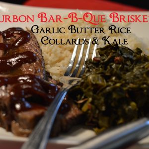 Bourbon Bar-B-Que Brisket greens and rice feature