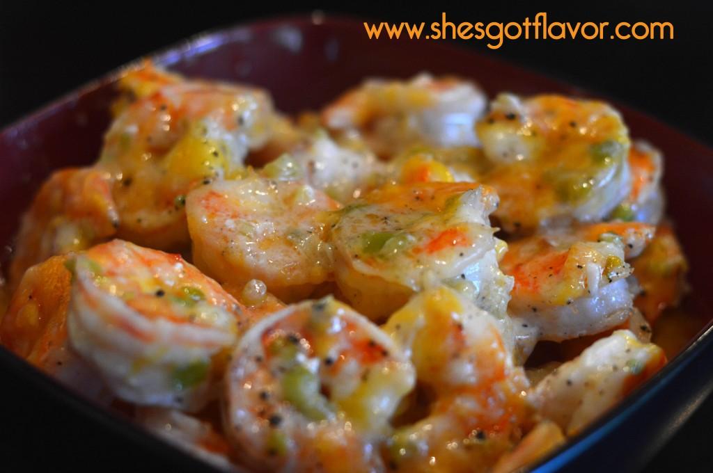 Cheesy Buttery Shrimp | ShesGotFlavor