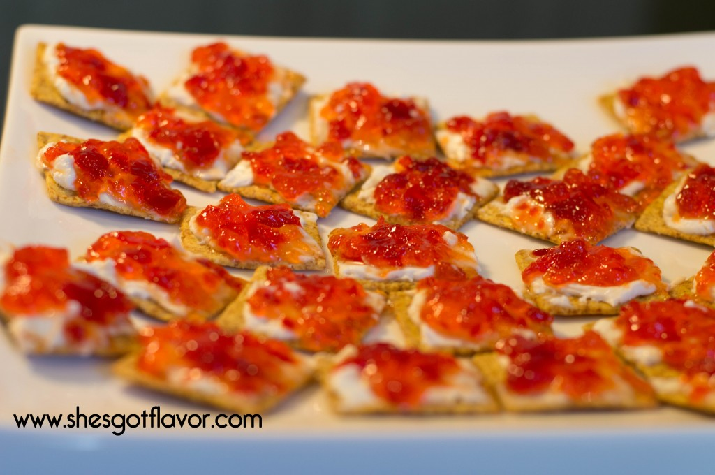 Cream Cheese and Pepper Jam The Perfect Little Appetizer | ShesGotFlavor