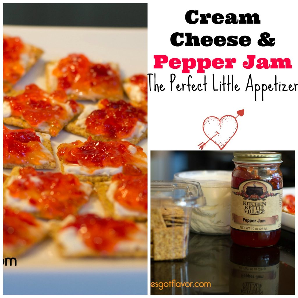 Cream Cheese and Pepper Jam - The Perfect Little Appetizer | ShesGotFlavor