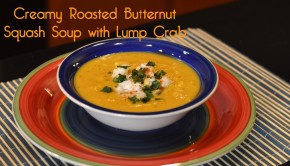 Creamy Roasted Butternut Squash Soup with Lump Crab | ShesGotFlavor