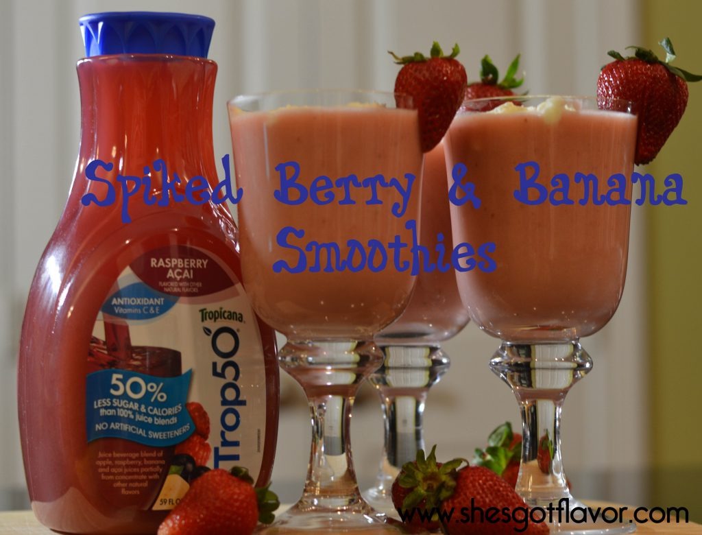 Spiked Berry and Banana Smoothie | ShesGotFlavor
