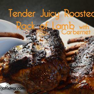 Tender & Juicy Roasted Rack of Lamb with Cabernet Sauce   ShesGotFlavor