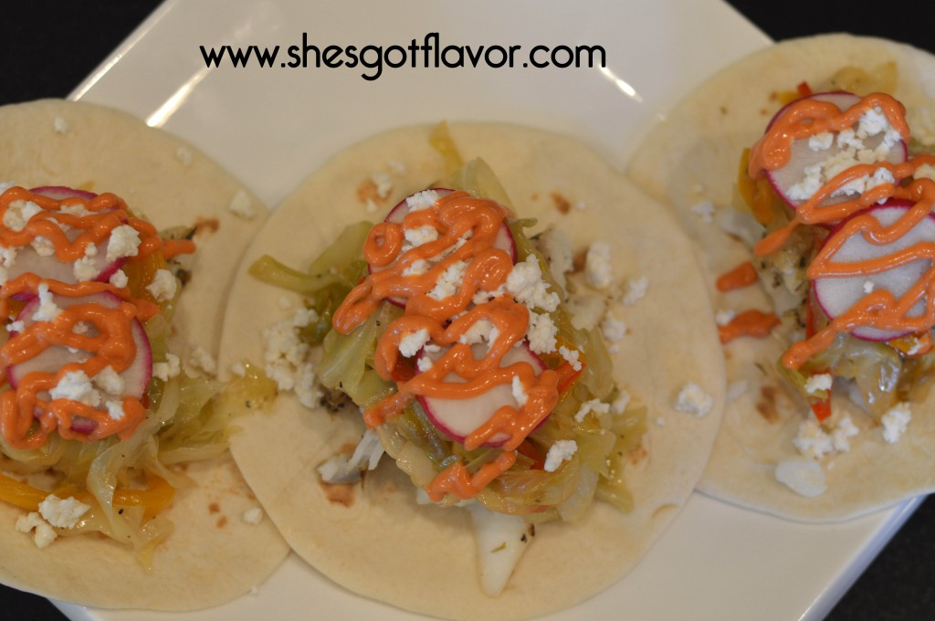 Amazing Fish Taco with Spicy Mayo Drizzle | ShesGotFlavor
