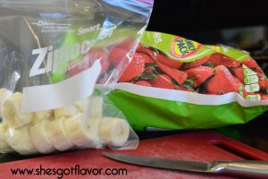 Dark Chocolate Strawberry Banana Ice Cream Made Healthy | ShesGotFlavor