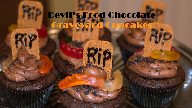 Devil's Food Graveyard Cupcakes - Halloween Fun   ShesGotFlavor