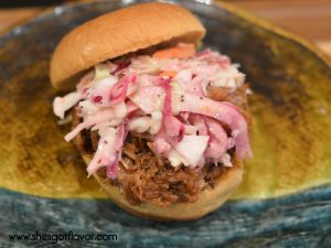 Juicy BBQ Pulled Pork with Sweet and Tangy Coleslaw | ShesGotFlavor