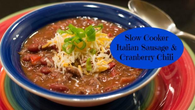 Slow Cooker Italian Sausage & Cranberry Chili | ShesGotFlavor