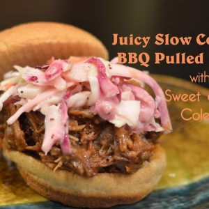 Juicy Slow Cooker BBQ Pulled Pork with Sweet and Tangy Coleslaw | ShesGotFlavor