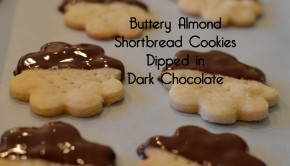 Buttery Almond Shortbread Cookies Dipped in Dark Chocolate | ShesGotflavor