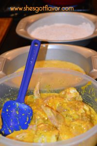 Crispy Juicy Curry Fried Chicken | ShesGotFlavor, fried chicken wings, chicken breasts, curry chicken, coconut milk, fried chicken, how to make fried chicken crispy