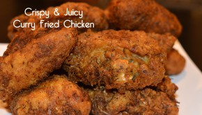 Crispy Juicy Curry Fried Chicken | ShesGotFlavor, fried chicken wings, juicy fried chicken, coconut milk, curry chicken, fried chicken breasts, how to make fried chicken crispy skin
