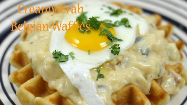 Creamy Crab Krusteaz Belgian Waffles by ShesGotFlavor