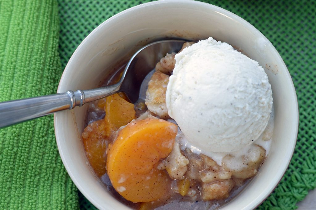 The Best Layered Peach Cobbler Ever   ShesGotFlavor