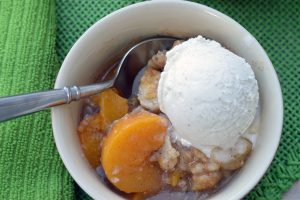 The Best Layered Peach Cobbler Ever | ShesGotFlavor