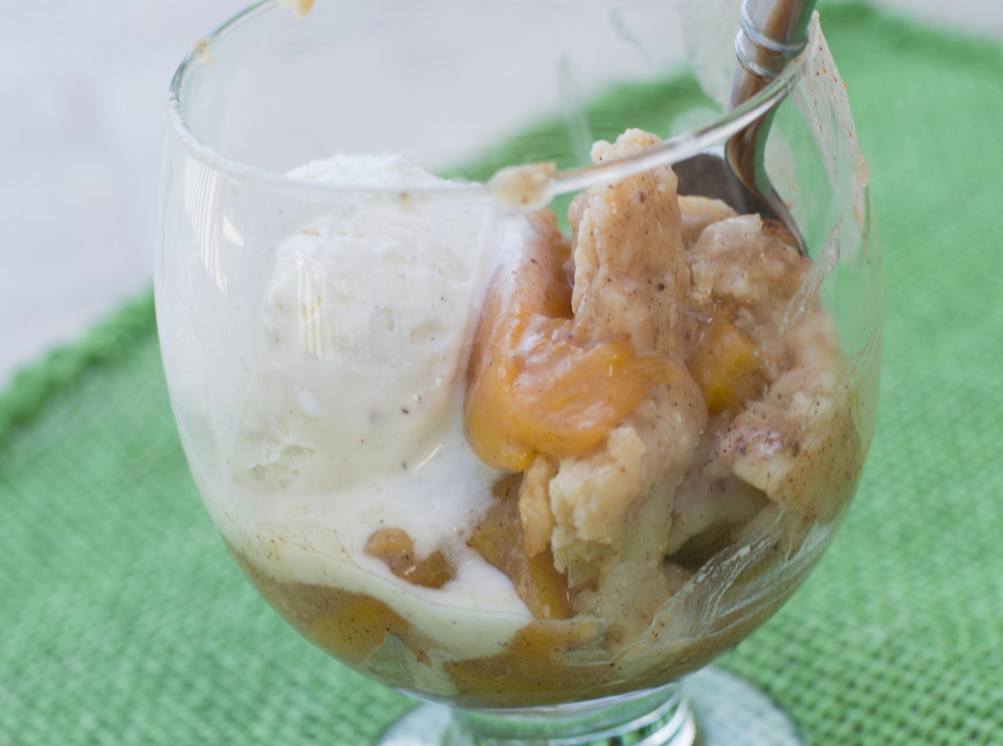 The Best Layered Peach Cobbler Ever Alone2