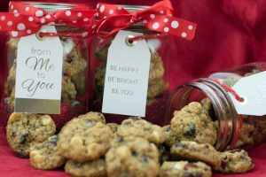 Mini White Chocolate and Craisin Christmas Cookies in a Jar 1 | ShesGotFlavor
