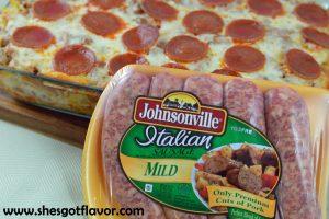 Sausage & Pepperoni Pizza Casserole | ShesGotFlavor