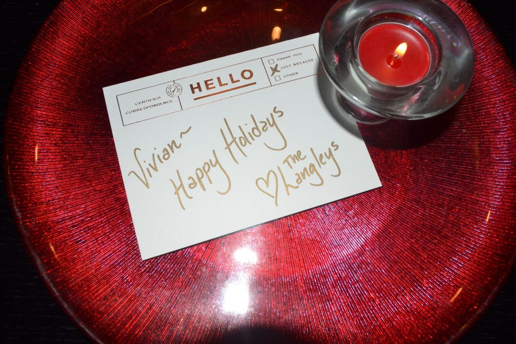 Personalized Holiday Table Setting | ShesGotFlavor