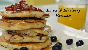 Bacon and Blueberry Pancakes | ShesGotFlavor