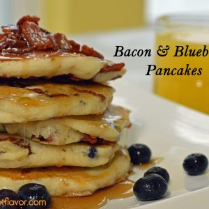 Bacon and Blueberry Pancakes   ShesGotFlavor