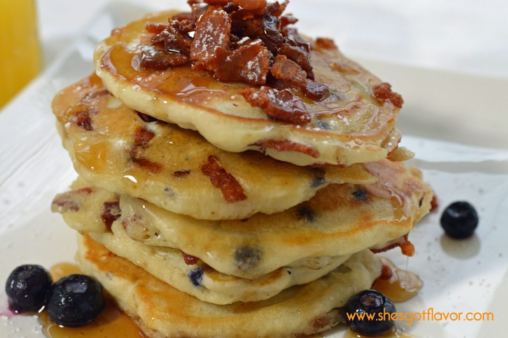 Bacon and Blueberry Pancakes
