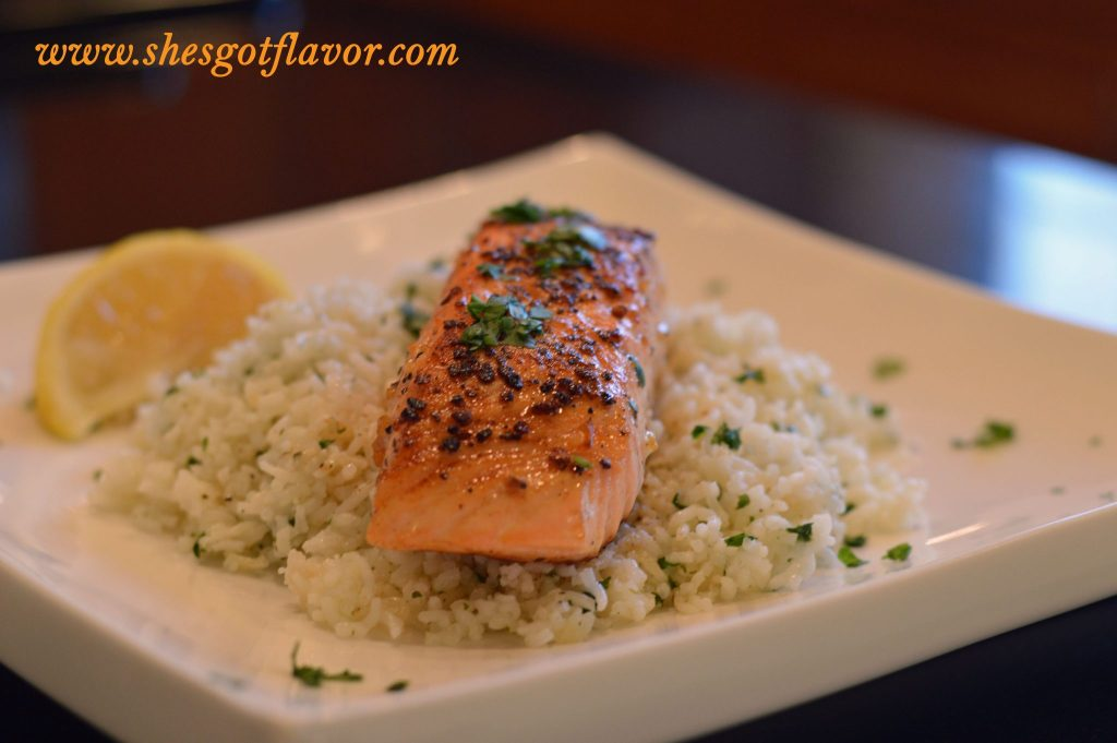 Montreal Salmon and Chipolte Rice | ShesGotFlavor