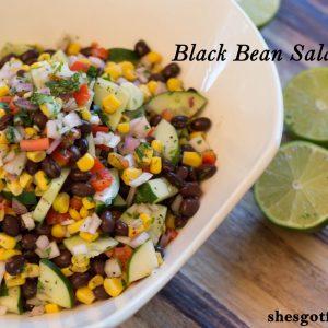 Black Bean Salad   ShesGotFlavor
